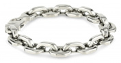 Cold Steel Stainless Steel Anchor Men's Link Bracelet
