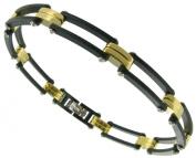 Rochet Roma Formula Solid Stainless Steel Black Carbon Modern Mens Bracelet