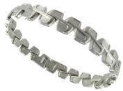 Infinity Track Moto GP Solid Stainless Steel Modern Elegant Mens Bracelet
