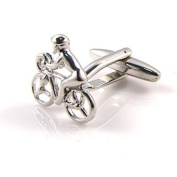 Bicycle Rider Cuff Links