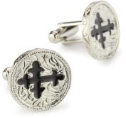 The Vatican Library Collection Men's Black Cross Cufflinks