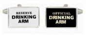 Drinking Arm Black & White Cufflinks