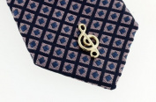 JJ Weston treble clef music note tie tac. Made in the USA