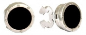 Round Black Porthole Button Covers