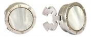 Round White Porthole Button Covers