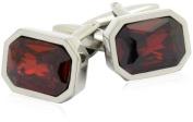 Shimmering Crystal Siam Red Cufflinks by Cuff-Daddy