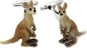 Kangaroo Cufflinks Hand Painted by Cuff-Daddy