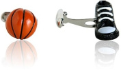 Basketball Cufflinks in 3D by Cracked Pepper