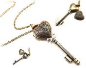 Victorian Romance Key to My Heart Locket Necklace