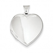 Sterling Silver Plain 21mm 2-Frame Heart Locket
