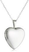 Momento Lockets Sterling Silver Heart Shaped Locket Necklace