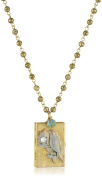 "Lenora Dame ""Romantic"" Blue Bird Locket Necklace"