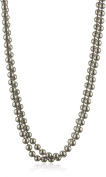 """Carolee """"Charcoal Pearl Basics"""" Simulated Pearl 182.9cm Charcoal Necklace"""