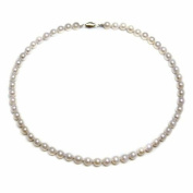 """Pearlpro 6.5-7.0mm White Japanese Saltwater Akoya Pearl High Lustre Necklace 18"""" Length, A Quality. Pearls is June Birthstones"""