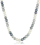 """Honora """"Tuxedo"""" Freshwater Cultured Pearl Necklace, 45.7cm"""