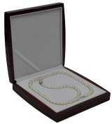 AAA 7.5-8mm White Freshwater Cultured Pearl Necklace 24in Classic