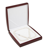 AAA 7.5-8mm White Freshwater Cultured Pearl Necklace 26in Matinee