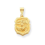 14k Saint Michael Medal Badge Pendant