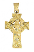 Gold Celtic Cross Pendant - The Traditional 14K Yellow Gold Ancient Celtic Cross