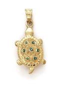 14k Small Turtle Pendant - JewelryWeb