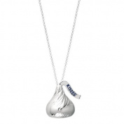 Hershey's Kiss Jewellery Sterling Silver Extra Large Flat Back Shaped Pendant