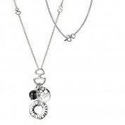 Hot Diamonds Hematite Cluster Necklace, Sterling Silver