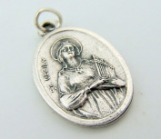 Saint Cecilia Cecily Patron St of Music Pray For Us Inspirational Charm Pendant