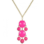 Beaded Bubble Pendant Necklace,Hot Pink