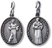 Patron Saint St Anthony Francis Catholic Christian Pet Medal Pendant Collar