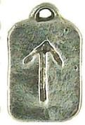 TYR-Warrior Runestone Viking Norse Pewter Pendant
