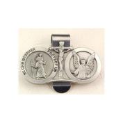 St. Christopher/ Guardian Angel Visor Clip