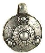 Viking Shield Norse Pewter Pendant