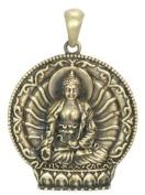 Medicine Buddha Pendant - Collectible Medallion Necklace Accessory