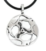 Pewter Triple Raven Poe Gothic Pendant on Leather Necklace