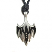 Hawker, Watchful and Swift Pewter Pendant on Corded Necklace, Black