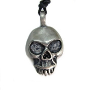 Nightmare from Hades Skull Pewter Pendant with Corded Necklace