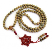 10mm Green Sandalwood Beads Tibetan Buddhist Prayer Meditation Mala Necklace
