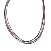 Southwest Spirit Purple and Pink Leather Cord Multi Strand Necklace