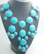 Big turquoise smooth Bubble Necklace, Green Necklace, Statement Necklace