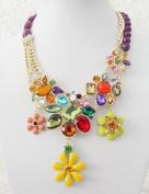 2013 new luxurious rhinestone & crystal flower necklace,fashion necklace,bubble Bib Necklace