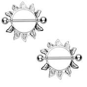 Body Accentz. Nipple Ring Bars Sun Jewellery Pair 14 gauge Sold as pair