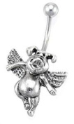 Belly Button Ring When Pigs Fly Navel Ring