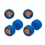 Body Accentz. Earrings Rings Fake Superman Cheater Plug 16 gauge - Sold as a pair
