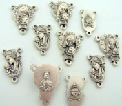 Rosary Repair Kit Virgin Mother Mary Two Centrepieces Lot 5 Each