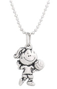Clayvision Volleyball Girl Pendant Necklace