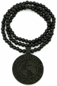 World Is Yours Good Wood Black Goodwood All Natural Wood Replica Pendant Necklace Style