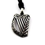 Celtic Legends Necklace - Harp - Made in Ireland