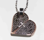 The Lord's Prayer Heart Transform Pendant, Stainless Steel