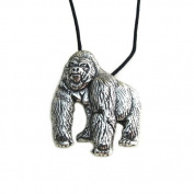 The Mountain Gorilla Pewter Pendant, Endangered Species Collection