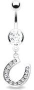 Body Accentz. Belly Button Ring Navel Horseshoe Body Jewellery 14 Gauge HO162